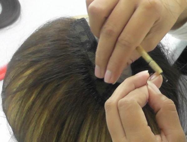 ナチュレーヌウィッグフィリピンの工場④植毛