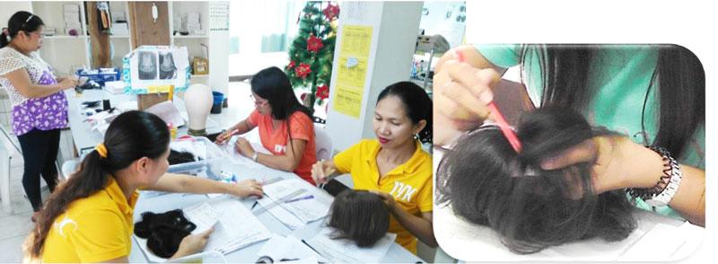 ナチュレーヌウィッグフィリピンの工場⑧最終検品